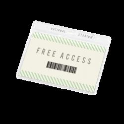 Porta badge trasparent