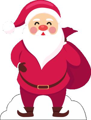 Il Babbo Natale.Sagoma Babbo Natale