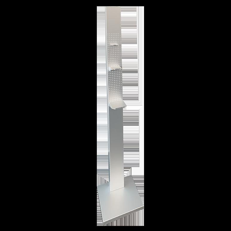Colonna porta dispenser in alluminio